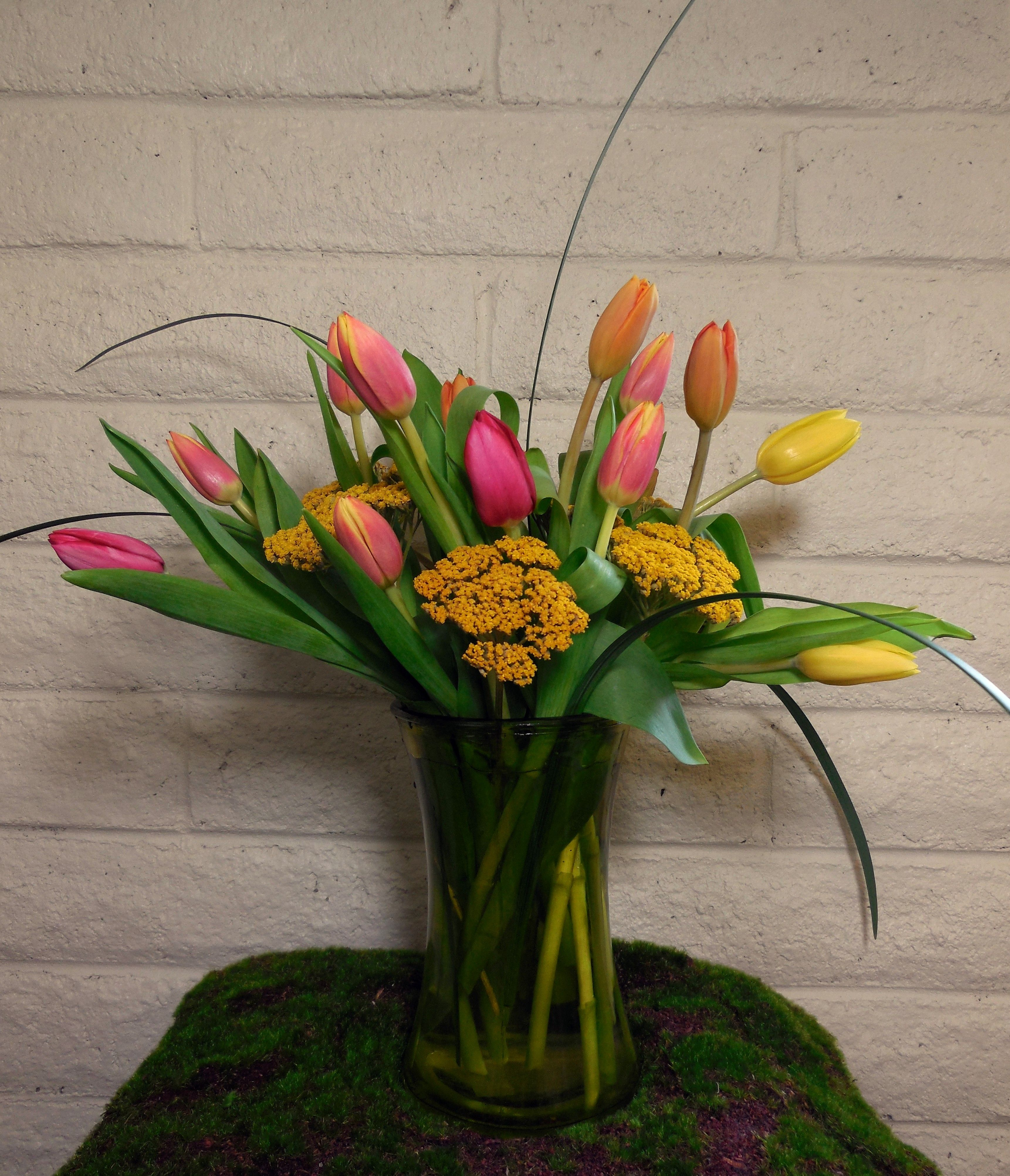Fall Tulips And Yarrow To Greet Your Guests