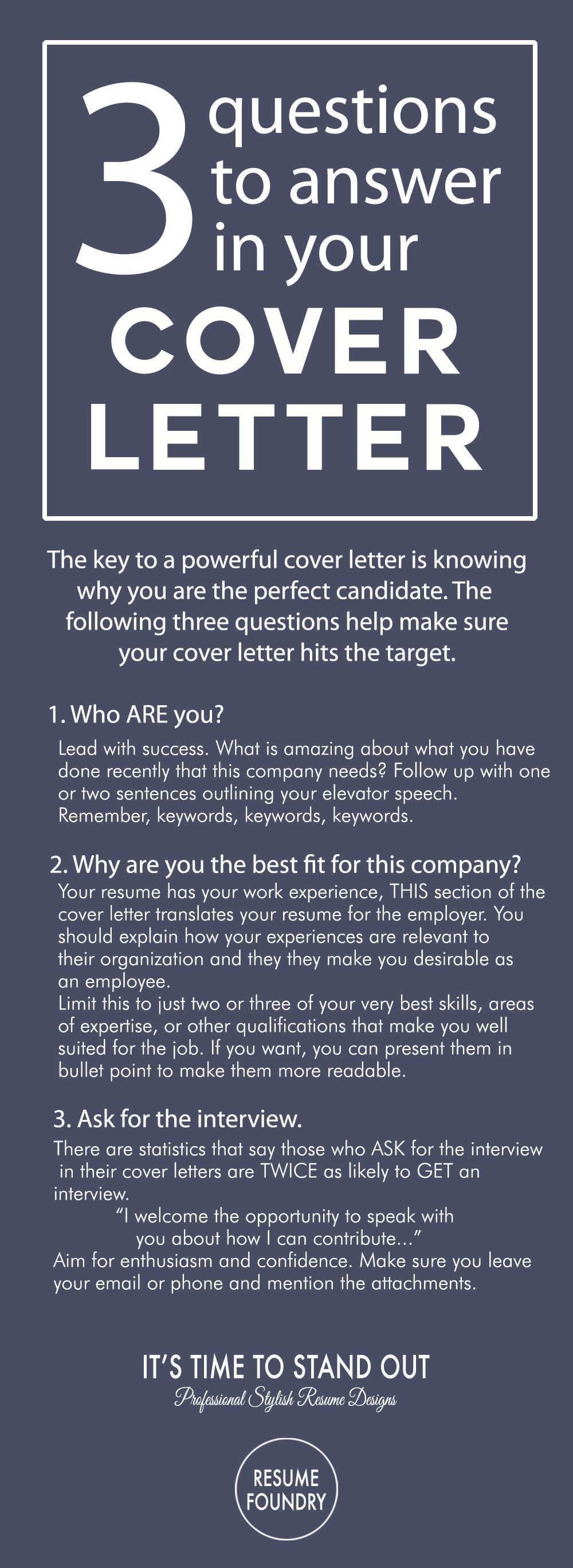 write an amazing cover letter