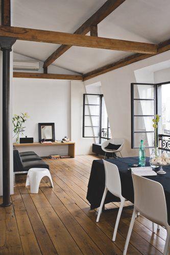 Charpente Apparente Salon charpente apparente | aménagement intérieur : salon | pinterest