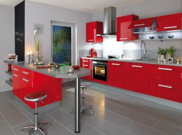 Modeles De Cuisine Semi Ouverte Decoration Cuisine Moderne Plan