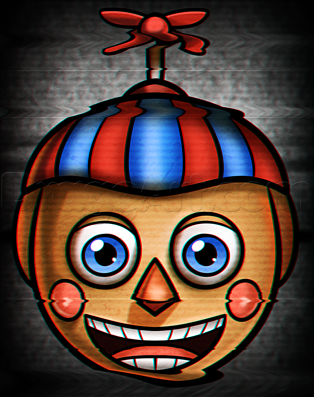 How To Draw Bb Easy Balloon Boy Step By Step Video Game Characters Pop Culture Free Online Drawing Tutor Five Nights At Freddy S Fnaf Crafts Fnaf Drawings