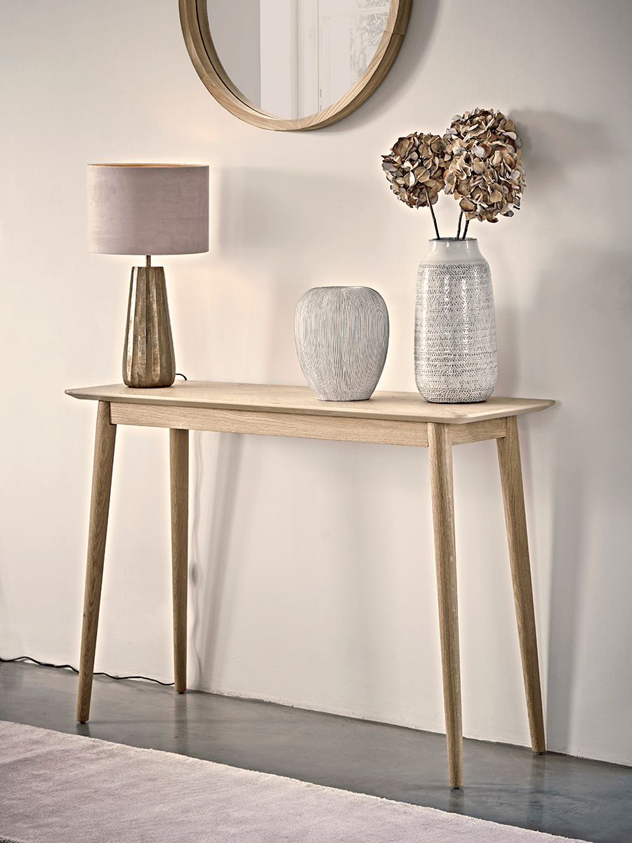 NEW Chevron Oak Console Table - Console Tables - Dining ...