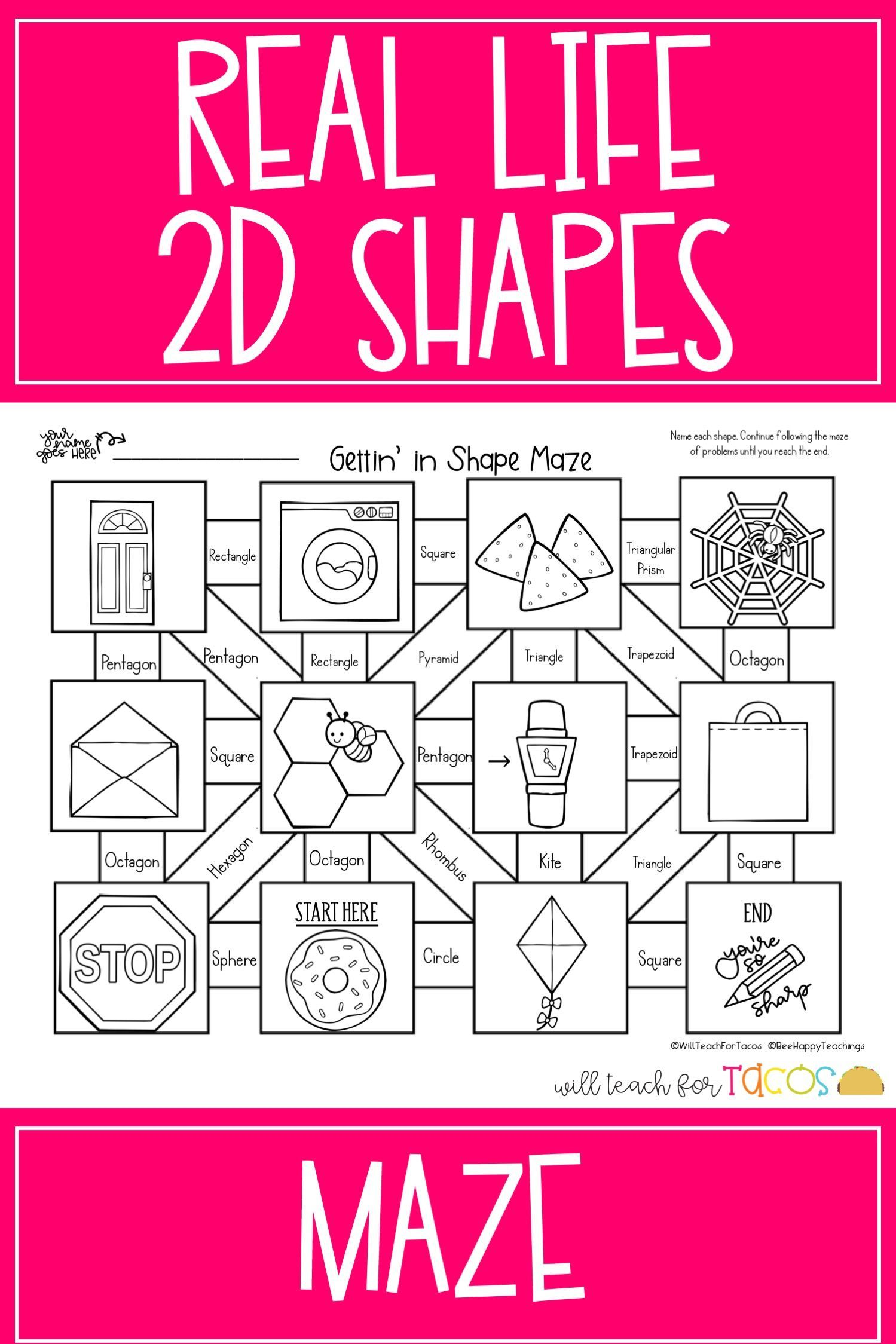 Classifying 2d Shapes With Real Life Objects