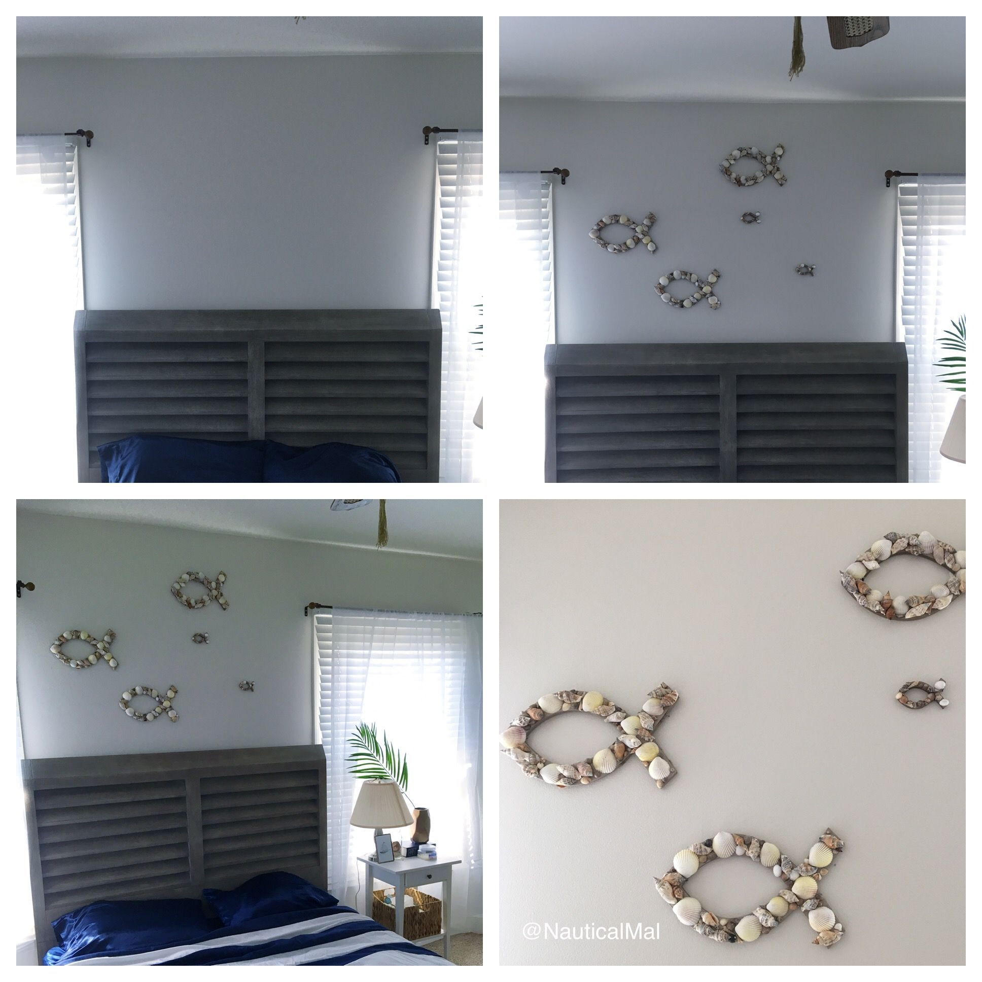 Diy Coastal Bedroom Wall Decor Visit The Nautical Mal Blog