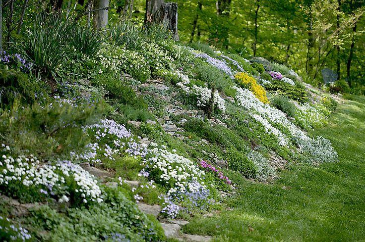 Create A Faux Rock Garden On A Hillside Or Berm Hillside Landscaping Rock Garden Landscaping Sloped Garden