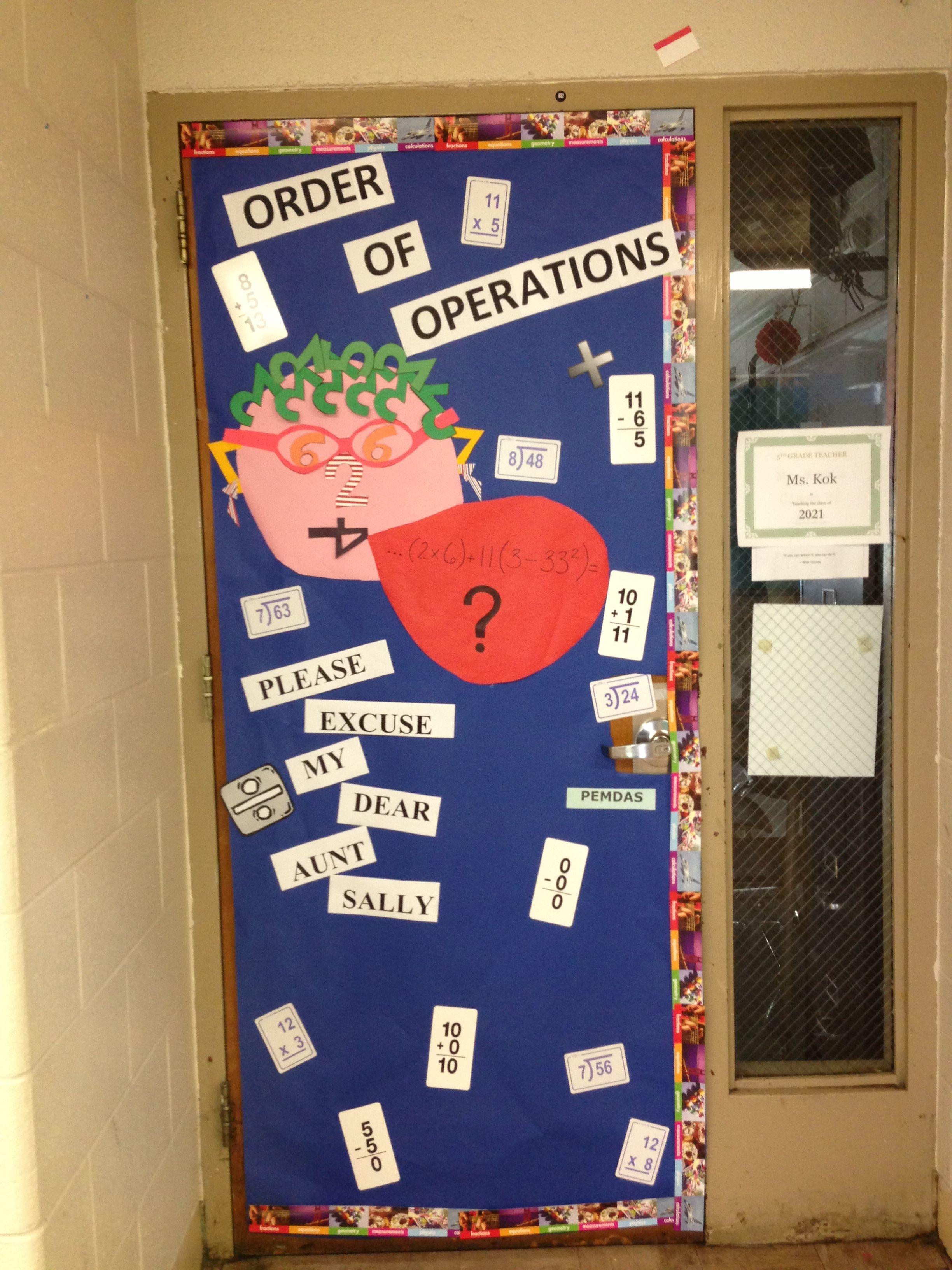 Classroom Math Themed Door Decor Her Face Is Made