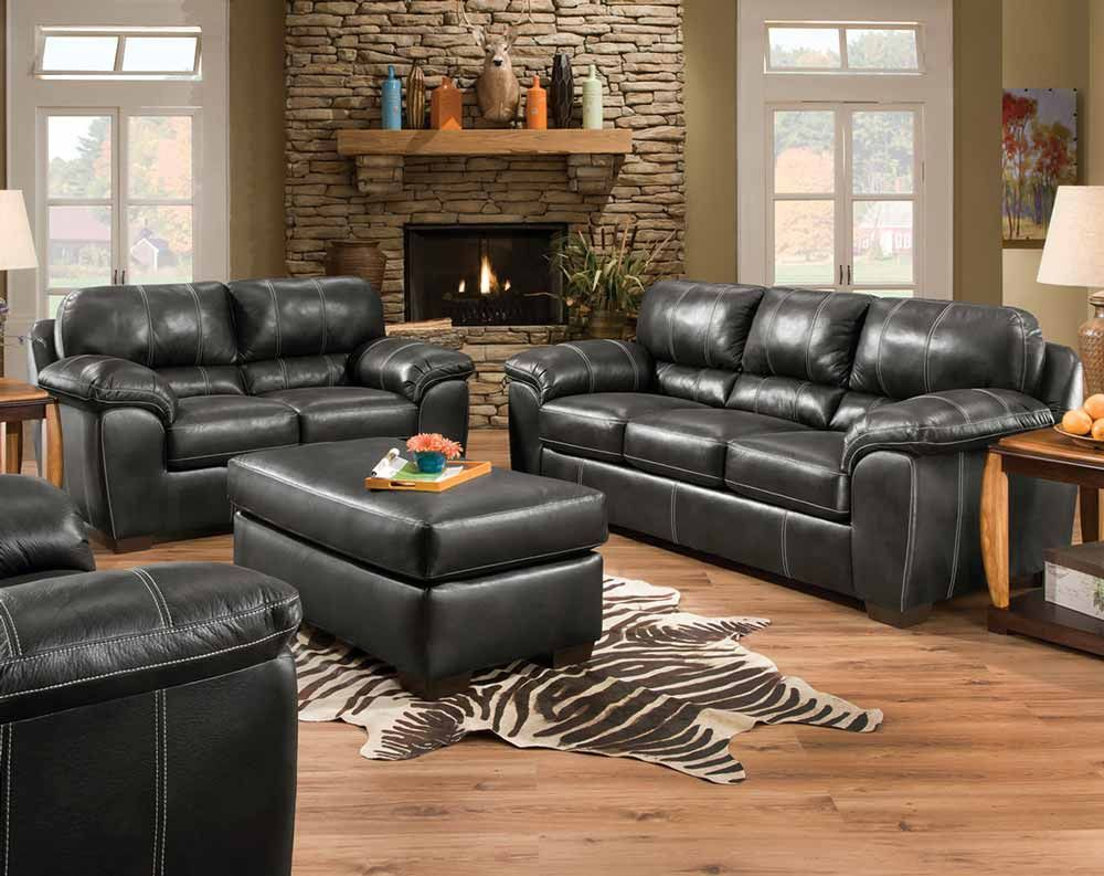 Black Fabric Couch Set Yahtzee Onyx Sofa And Loveseat American Freight Love Seat Sofa And Loveseat Set Furniture #walker #furniture #living #room #sets