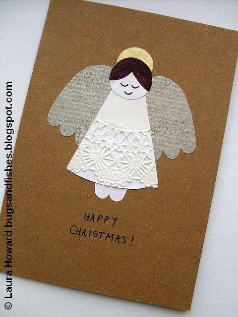 День рождения, открытки к рождеству своими руками с ангелами