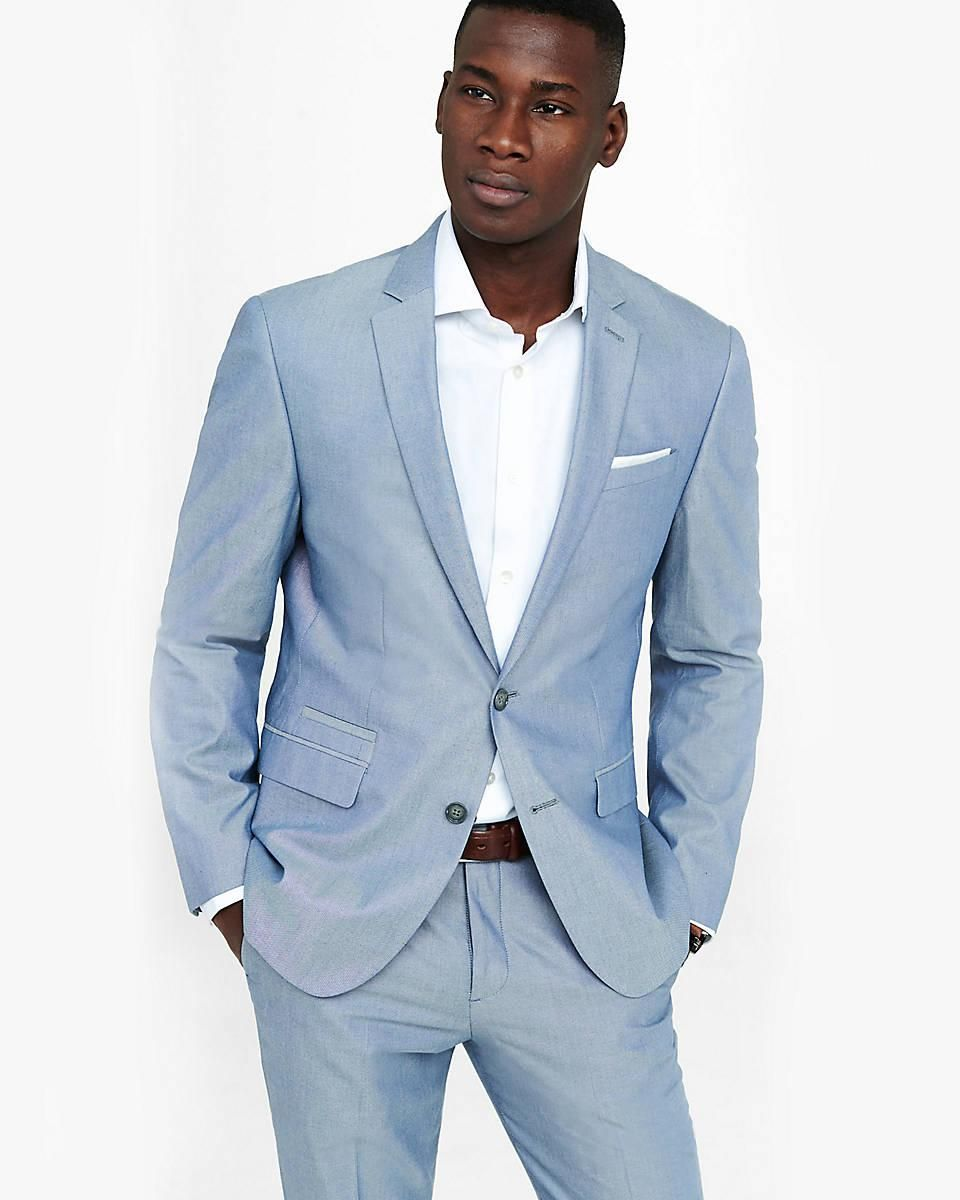 Casual Smoking Blue Man Suit Slim Fit Wedding Suits For Men Tailor ...