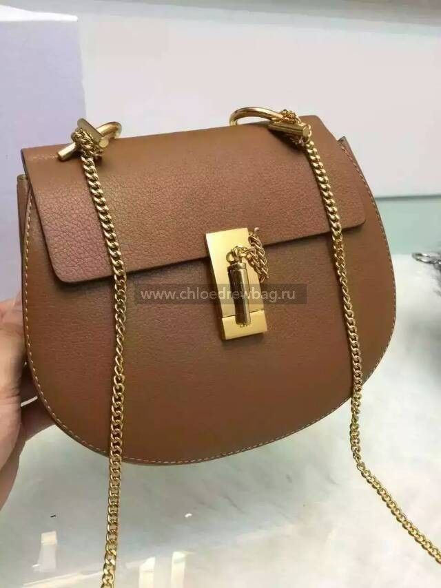 Chloe Drew Brown Medium Crossbody Leather Bag - Shop On ChloeDrewBag ... 198521f81e2a2
