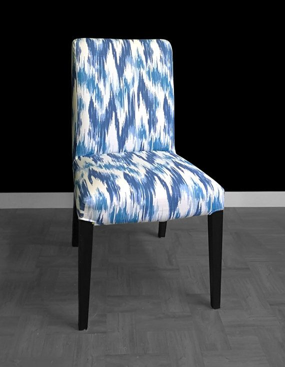 Ikea Henriksdal Dining Chair Cover Casbah Ikat Blue By