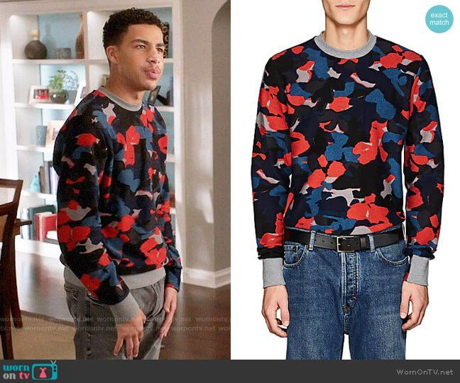 103acffc1e Junior s red and blue camo sweatshirt on Black-ish