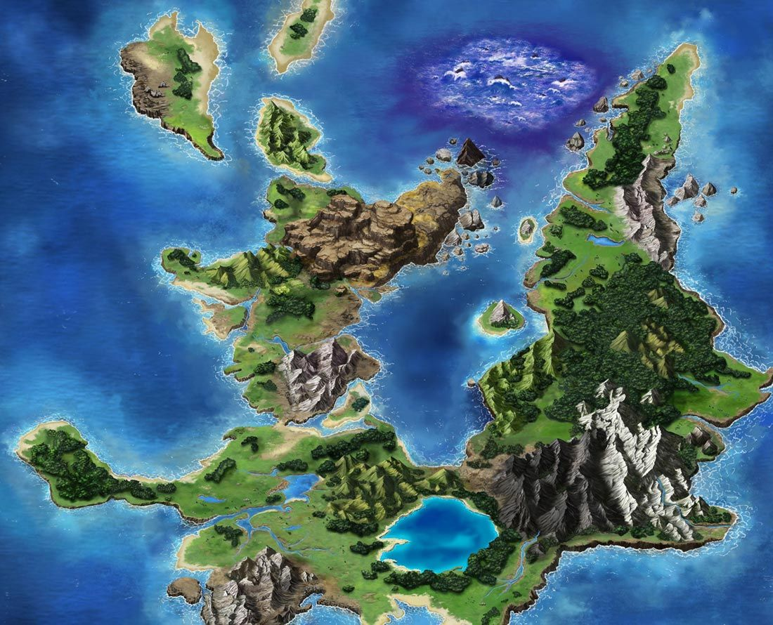 Olderion Map from Final Fantasy: Brave Exvius | Environment Design