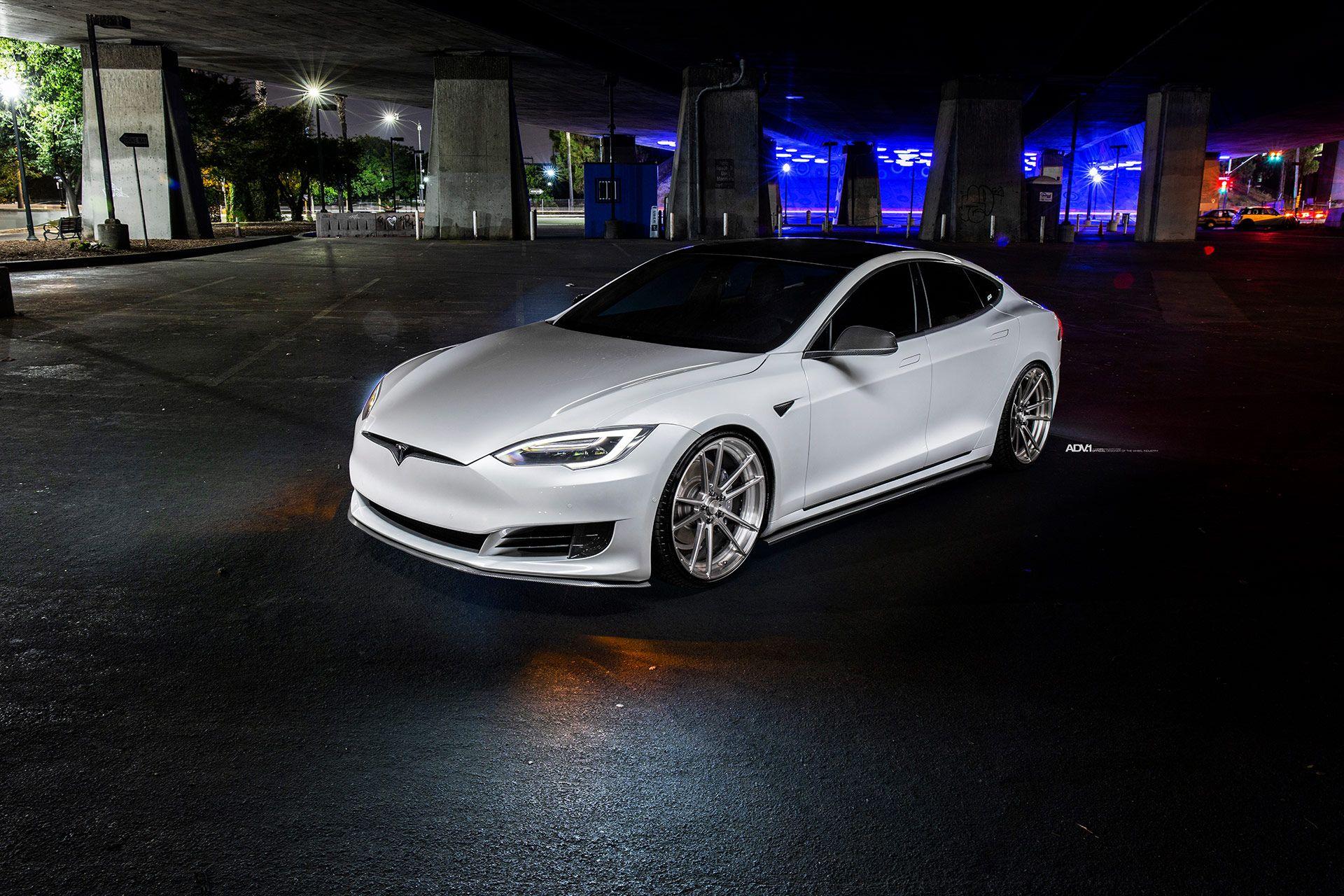 Pearl White Tesla Model S Pops In Striking Photoshoot Tesla