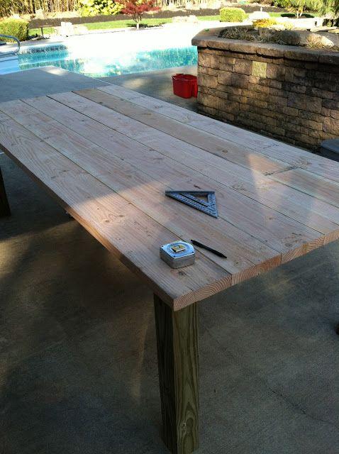 Building My Own Outdoor Wood Farm Table Outdoor Farm Table Diy