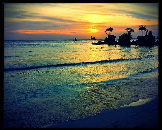 """White beach, Boracay, Philippines - BBC Boracay says: """" Amazing sunset's every evening - best time of the day on White beach..."""""""