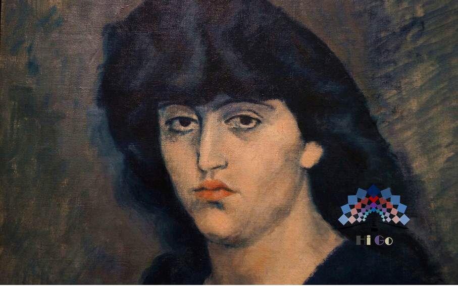 São Paulo art center - 巴勃罗·毕加索 Pablo Picasso  Retrato de Suzanne Bloch  Portrait of Suzanne Bloch  Suzame Bloch 肖像画  1904