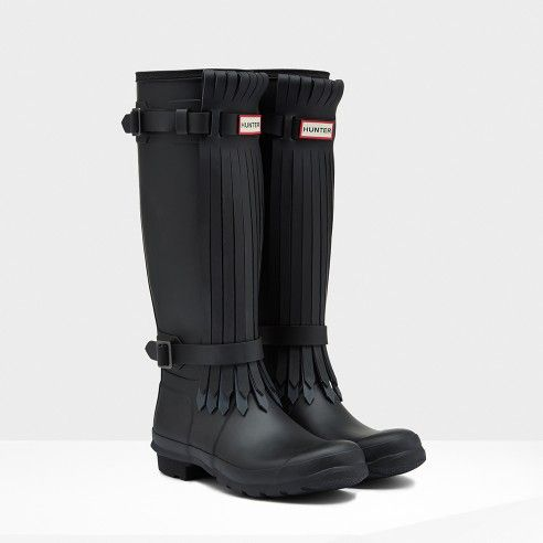 Women's Original Tall Fringe Wellington Boots | Hunter Boot Ltd ...