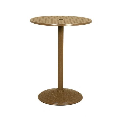 Fabulous 639 Basketweave 30 Pedestal Bar Table Outdoor Patio Home Interior And Landscaping Pimpapssignezvosmurscom
