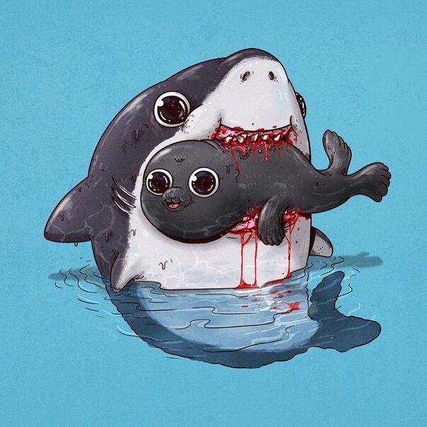 Found this on web, cutecutecute!!!! Sharks