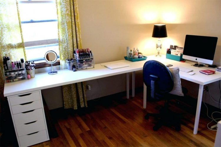 White L Shape Desk Diy Ikea Office Desk Ikea Home Office Diy Corner Desk