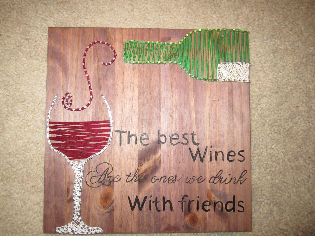 The best wine string art pattern more