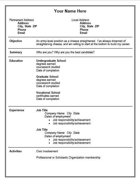 Free Resume Template Best Resume Template Job Resume Template Resume Examples