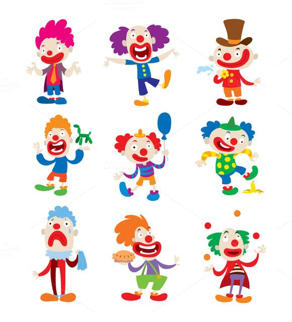 clown character vector creativework247 graphics icons