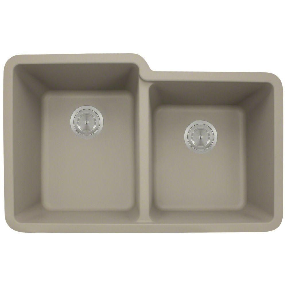 undermount composite 32 1 2 in  double bowl kitchen sink in slate   undermount composite 32 1 2 in  double bowl kitchen sink in slate      rh   pinterest com