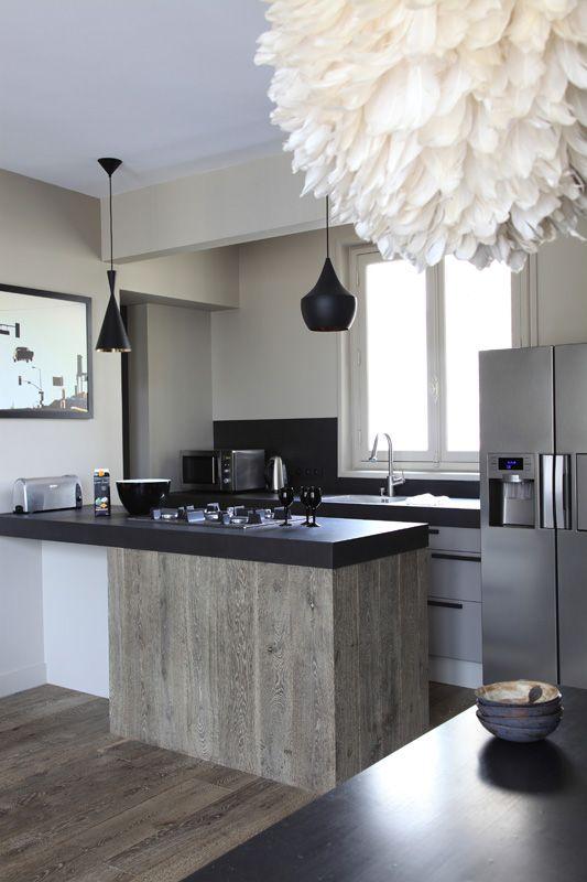 Plan De Travail En Résine Ardoise / Archi : Atelier Premier Etage