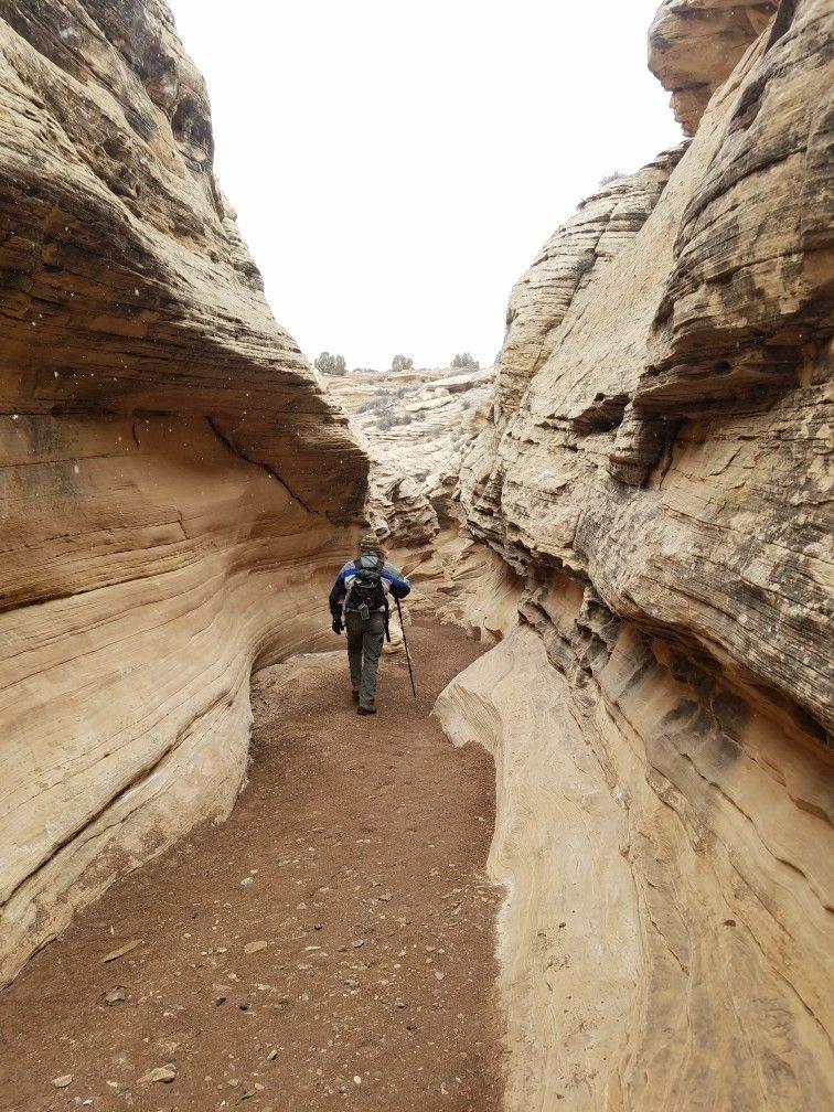 Secret small semi slot canyon the San Rafael Swell   San