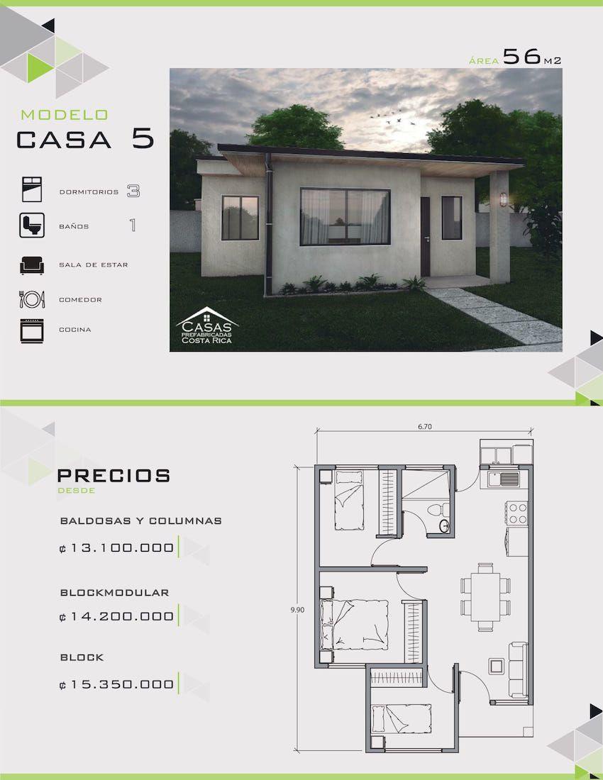 Modelos y dise os de casas de un piso costa rica casas for Disenos y planos de casas prefabricadas