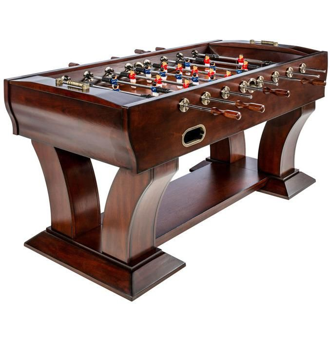 Enjoy A Game Of Foosball With Family And Friends On This Beautifully Crafted Table The Unique Arched Legs Sturdy Base And Lower Sh Table Game Room Bars For Home
