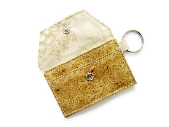 Mini Key Chain Wallet Simple Id Key Chain Pouch Business Card