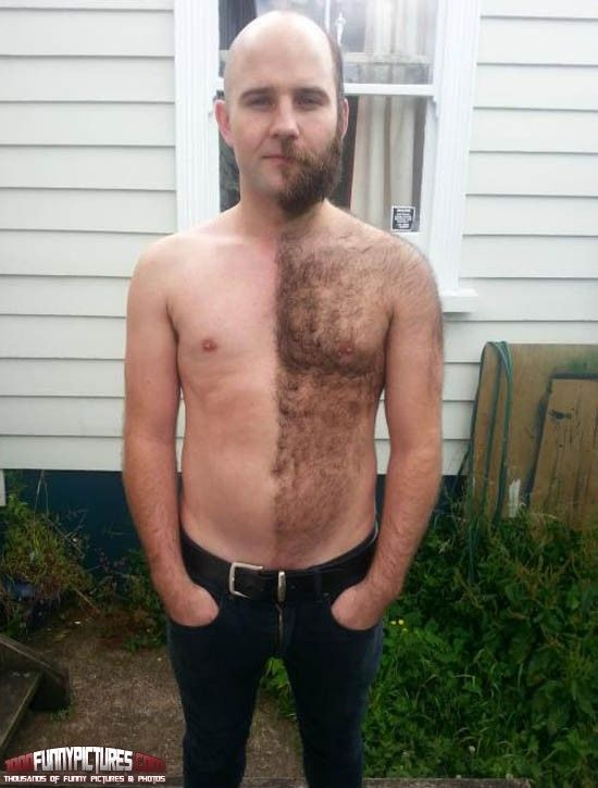 I gave up shaving halfway through today – WTF Pictures