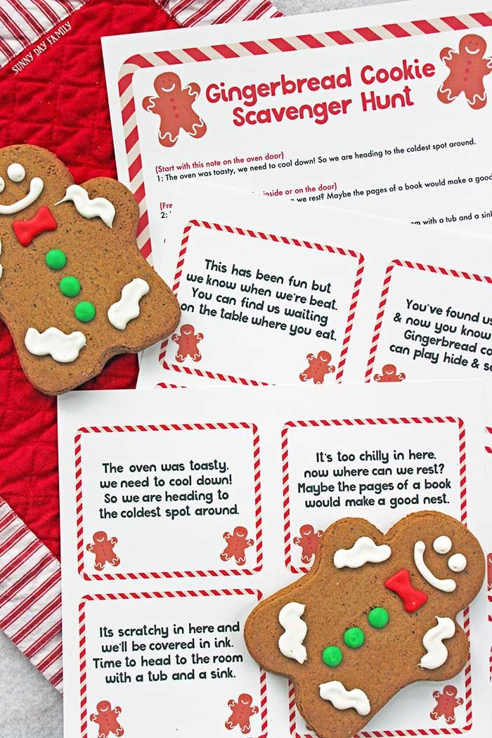 Free Printable Gingerbread Man Scavenger Hunt