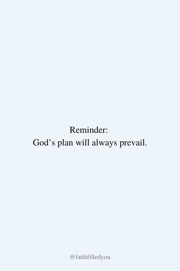 Faith Quote About God's Plan