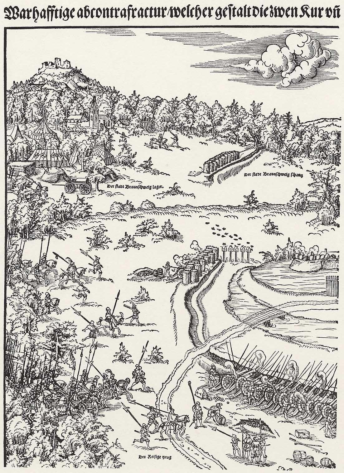 Die Belagerung von Wolfenbüttel, Block 1 Künstler:Cranach d. J., Lucas Entstehungsjahr:1542