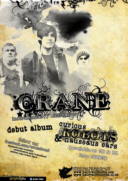 Rearing from SouthCumbria, Crane blend genres that have been perfected by the bearded and the non-bearded for generations; a sort ofKing Crimson90′s dance band.