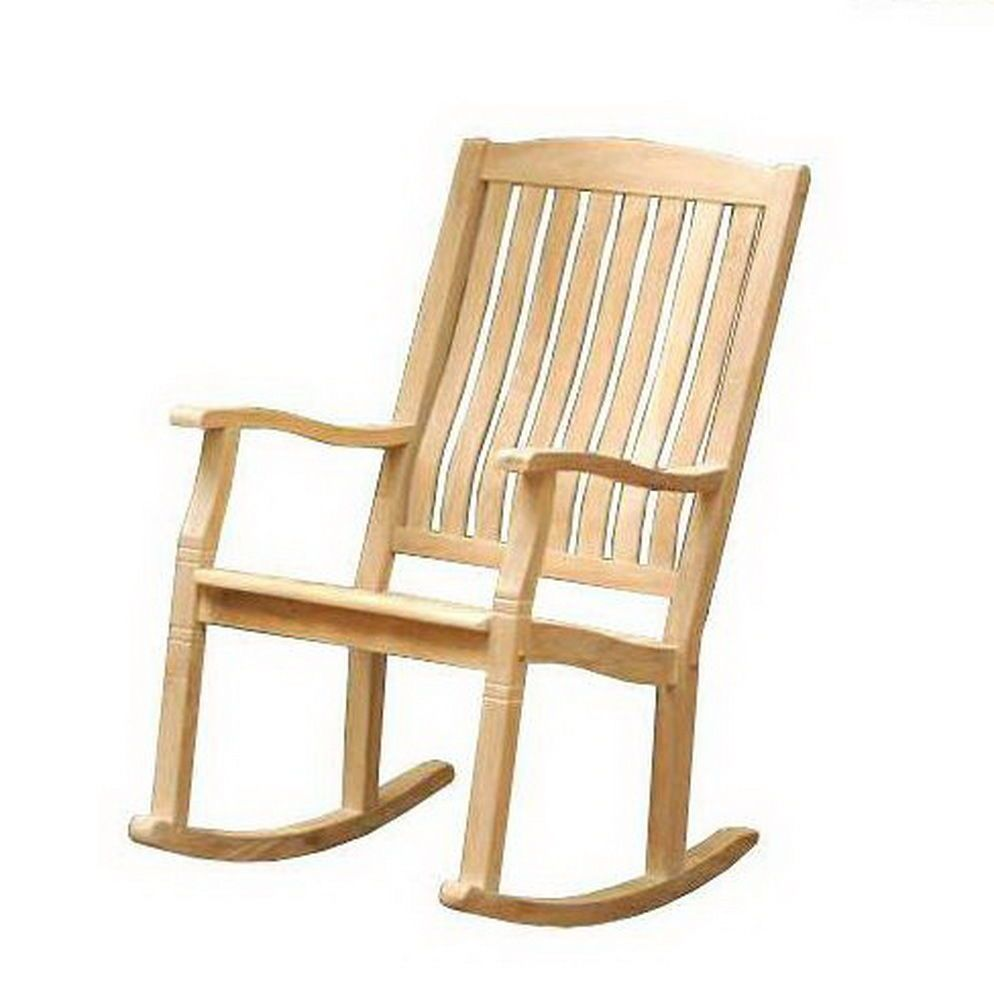 Magnificent New Solid Teak Wood Rocking Chair Large Rocker Outdoor Porch Bralicious Painted Fabric Chair Ideas Braliciousco