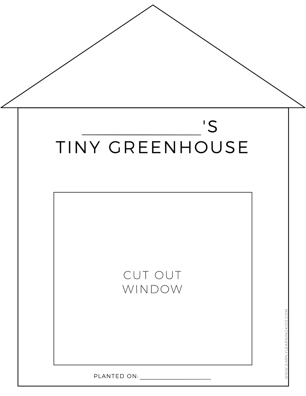 Tiny Greenhouse Activity