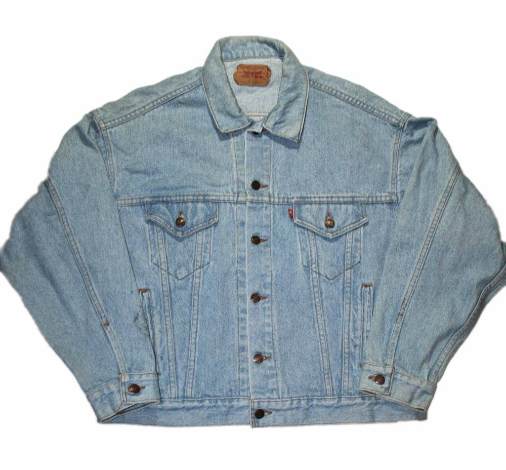Vintage 90s Levis Jean Jacket Made in USA Mens Size XL $45.00