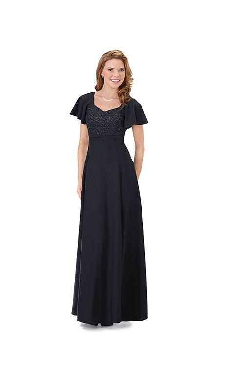 Long sleeve black concert dress