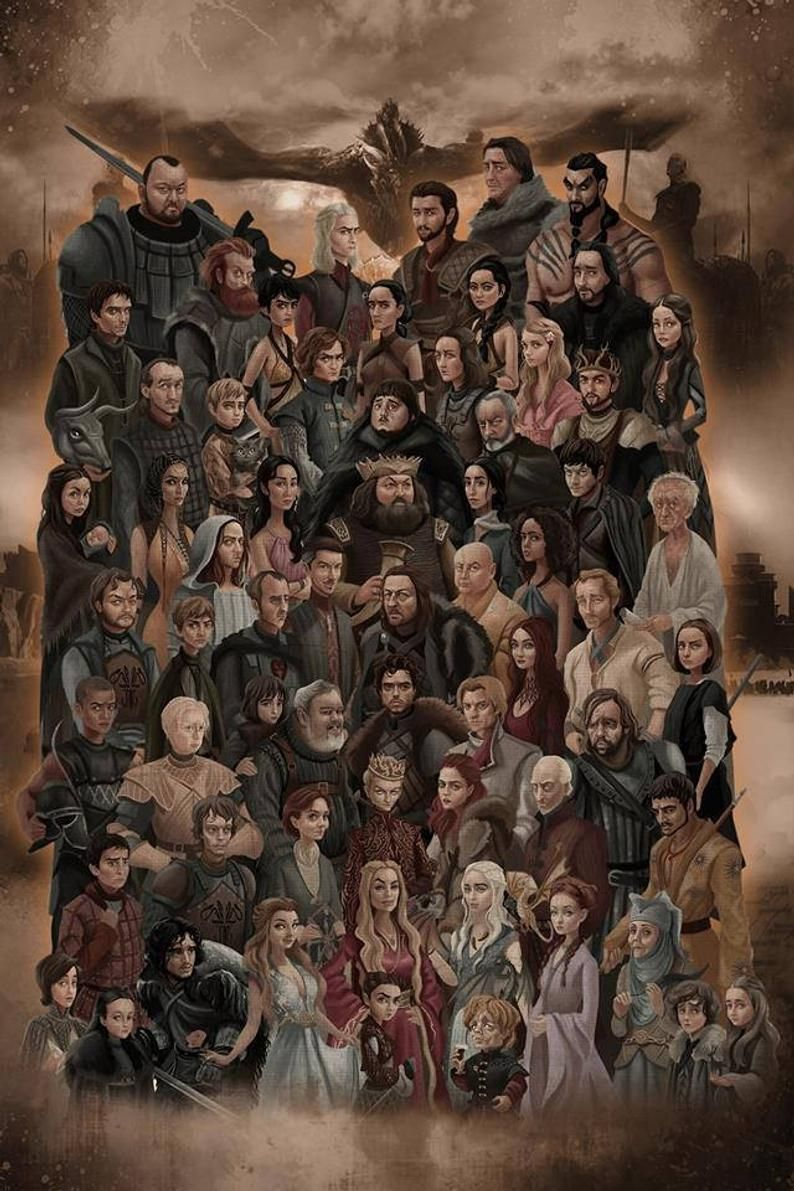Game of thrones . PDF . Counted Cross Stitch Pattern . Digital design . Instant download . All characters . GOT cast