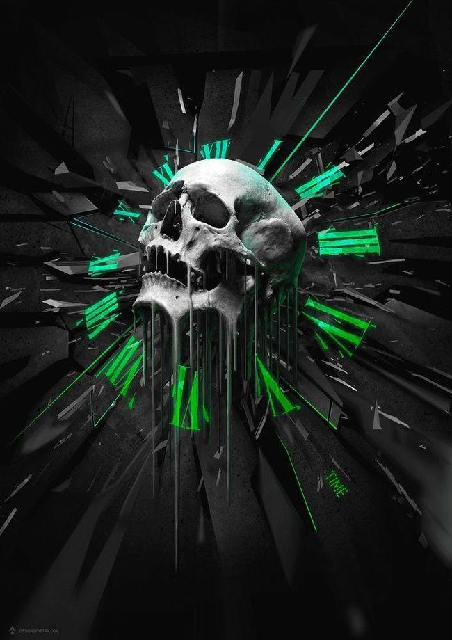 Time An Art Print By Gaetan Weltzer Skull Wallpaper Skull Pictures Skull Cool 3d skull wallpaper images