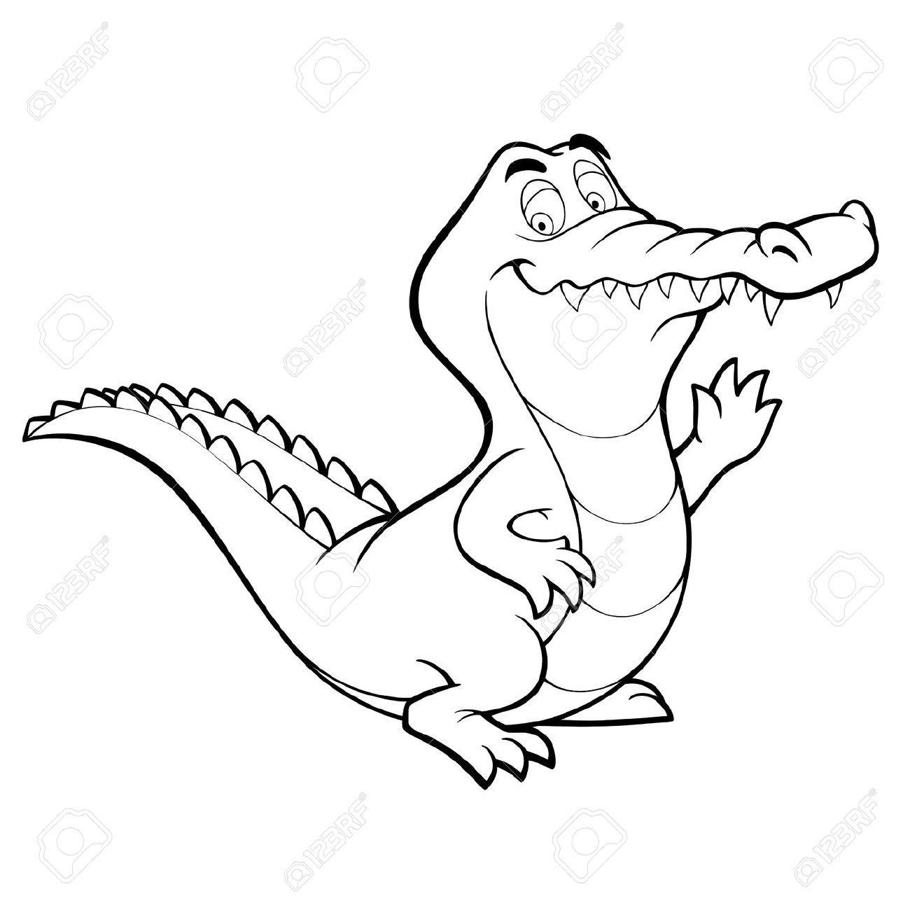 Cartoon Krokodil Royalty Vrije Foto S Plaatjes Beelden