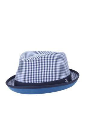 d850d9fea0f Original Penguin Dress Blues Miramar Gingham Fedora Hat