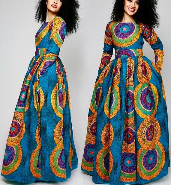 4f0d0519c8a Sandra Maxi dress with pockets African by AfricanclothingStore ...