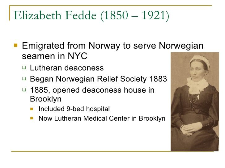Sister Elizabeth Founder Of Norwegian Lutheran Deaconess Hospital Home Brooklyn Ny Now Lutheran Medical Center Lutheran Medical Center Medical