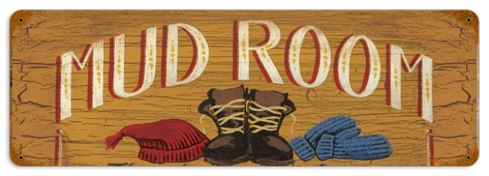 Retro Mud Room Tin Sign